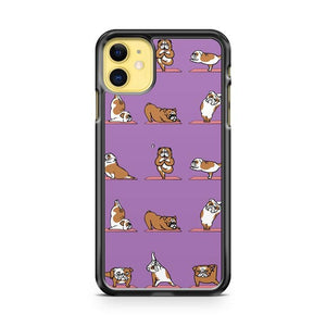 bulldog yoga iphone 5/6/7/8/X/XS/XR/11 pro case cover