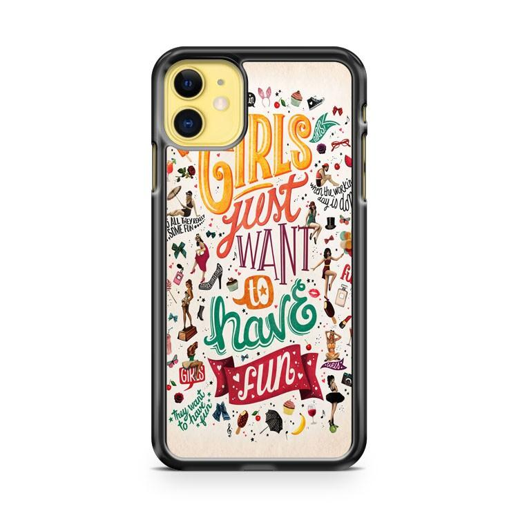 Cindy Lauper Girls Just Wanna iphone 5/6/7/8/X/XS/XR/11 pro case cover
