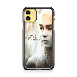 Game Of Thrones Daenerys Targaryen Art iphone 5/6/7/8/X/XS/XR/11 pro case cover