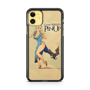 Game Of Thrones Pin Up Khaleesi Dragon iphone 5/6/7/8/X/XS/XR/11 pro case cover