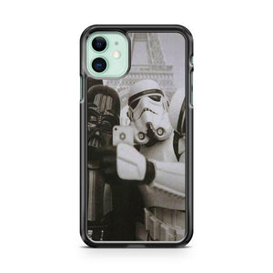 Winter White Vader Stormtrooper Selfie Star Wars force iphone 5/6/7/8/X/XS/XR/11 pro case cover