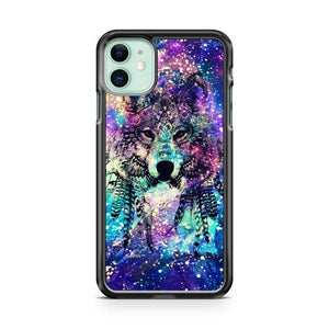 Wolf Abstract Universe iphone 5/6/7/8/X/XS/XR/11 pro case cover