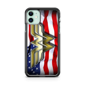 wonder woman logo 4 iphone 5/6/7/8/X/XS/XR/11 pro case cover