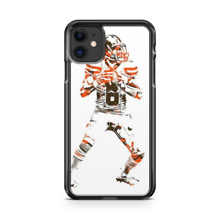 Cleveland Browns Baker Mayfield 6 iphone 5/6/7/8/X/XS/XR/11 pro case cover