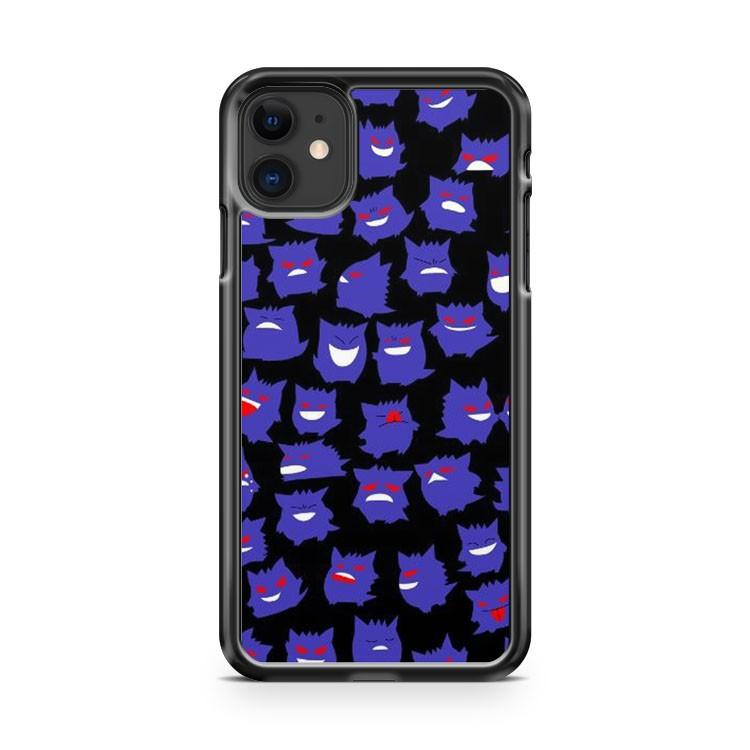 Pokemon Gengar 5 iphone 5/6/7/8/X/XS/XR/11 pro case cover