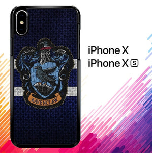 Harry Potter Knit Ravenclaw Wall Crest Logo F0185 iPhone X, XS case