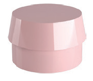 Silicone Cap for Ball Attachment: Transparent (4pcs.): Slightly Elastic, Retention 2.5-2.9 lbs (1.13-1.32 kg)