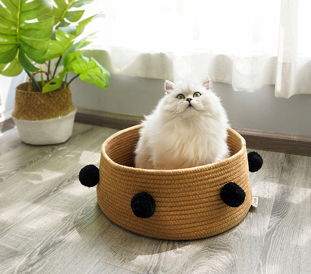 Summer Cotton Cat Bed In 6 Colors