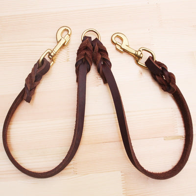 Two Way Genuine Cow Leather Rope Leash
