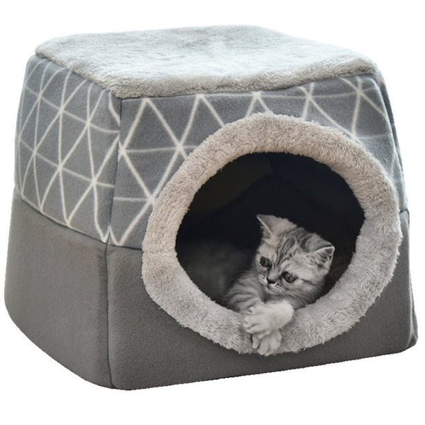 Cat Bed -Dual Use House or Bed  L-XL