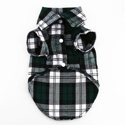 Small Pet Dog Plaid Shirt