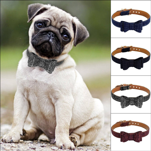 Luxury Adorable Dog/Cat Soft  Bow Tie Fashion Collars