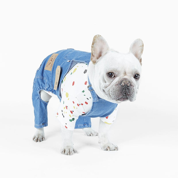 Designer Overalls For Dogs S-XXL
