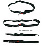 Dogs Harness Collar Jogging Lead and Adjustable Waist Rope