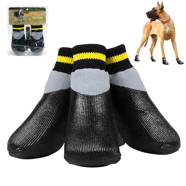 4pcs/set Outdoor Waterproof Nonslip Anti-stain Sock Booties Coated In Rubber