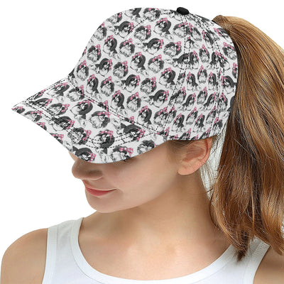 Japanese Chin Pattern Print Design 01 Snapback Hat