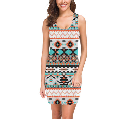 Tribal Aztec Indians pattern Mini Dress