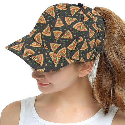 Pizza Pattern Print Design A02 Snapback Hat