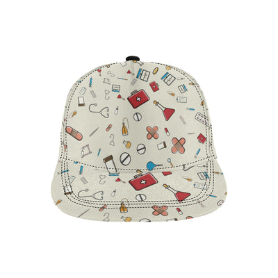 Nurse Pattern Print Design A04 Snapback Hat