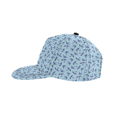 Swallow Bird Pattern Print Design 06 Snapback Hat