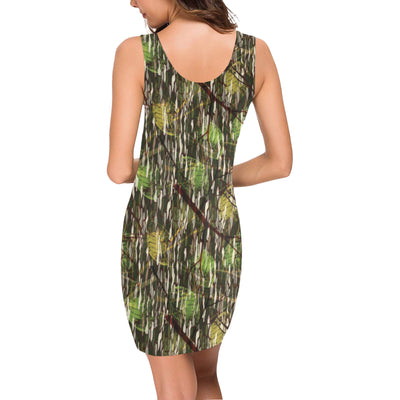 Camouflage Realtree Pattern Print Design 02 Mini Dress
