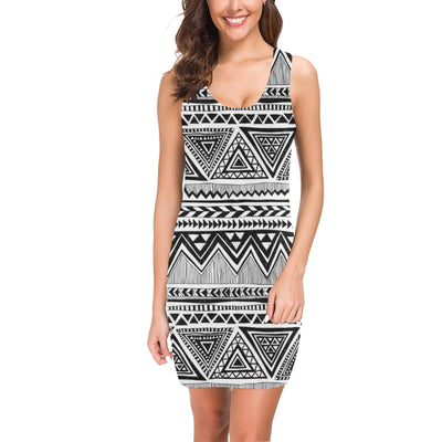 Draw Tribal Aztec Mini Dress