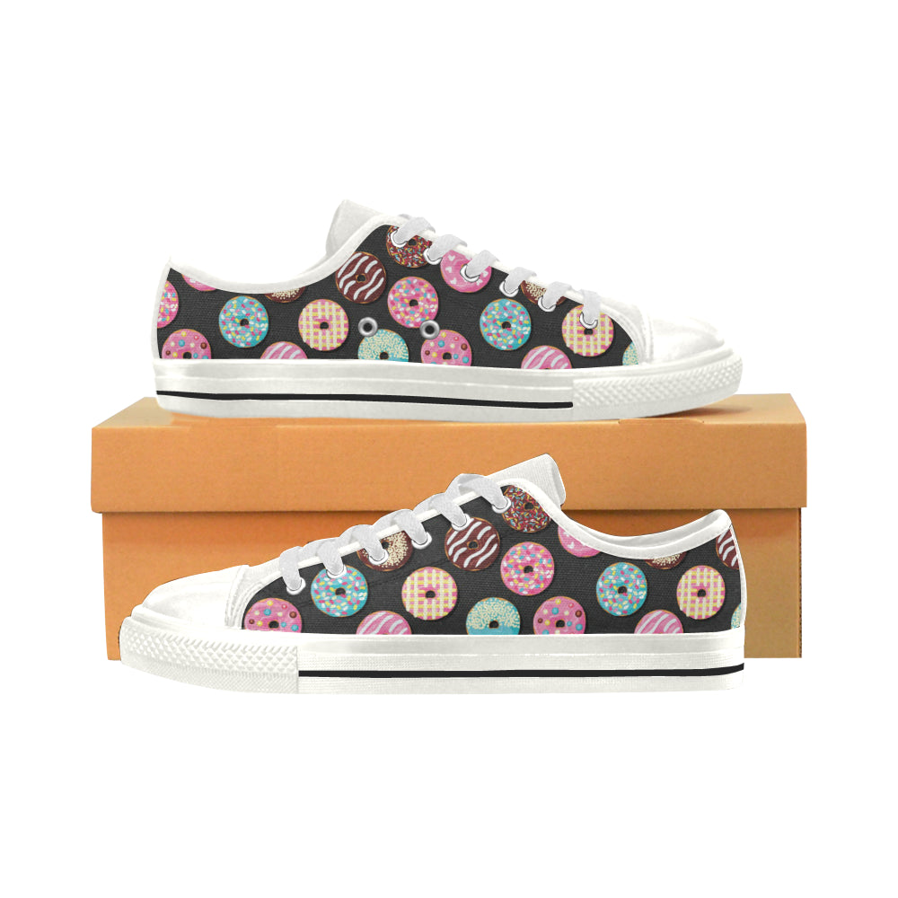 Donut Pattern Print Design DN02 Low Top Shoes