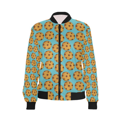 Cookie Pattern Print Design 01 Women Bomber Jacket