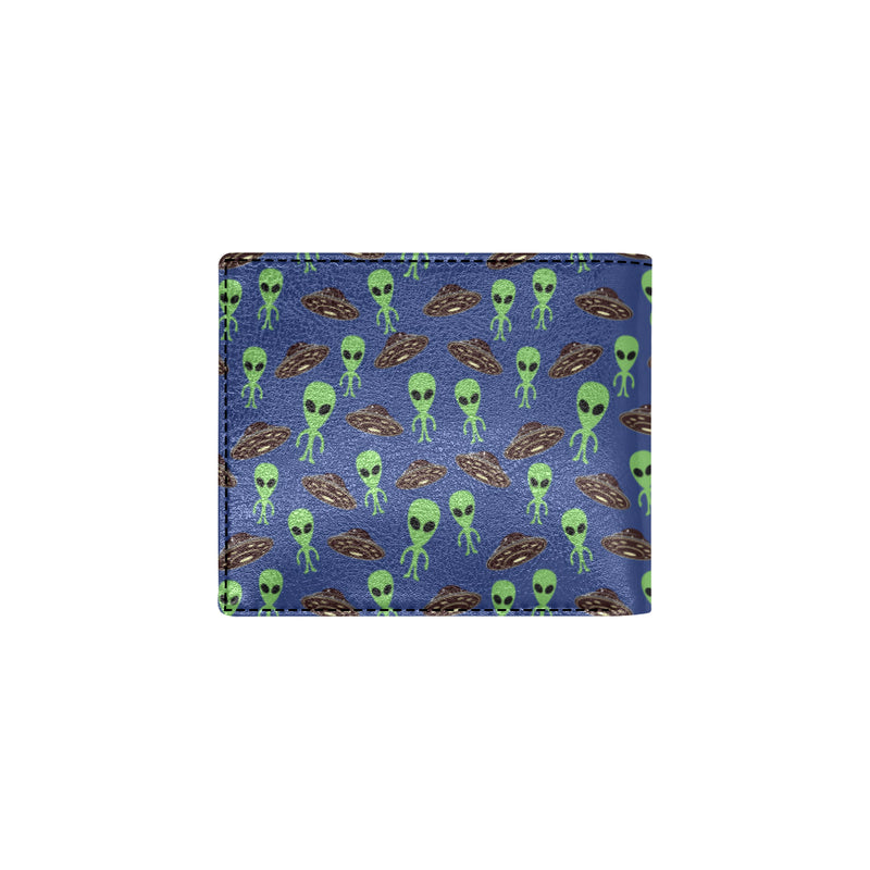 Alien Green UFO Pattern Men ID Card Wallet