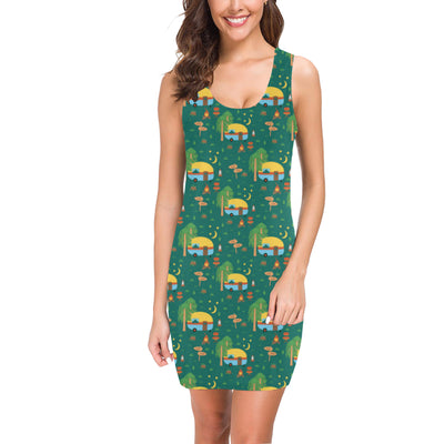 Camping Camper Pattern Print Design 06 Mini Dress