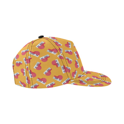Piano Pattern Print Design 02 Snapback Hat