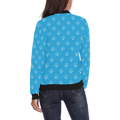 Libra Pattern Print Design 02 Women Bomber Jacket