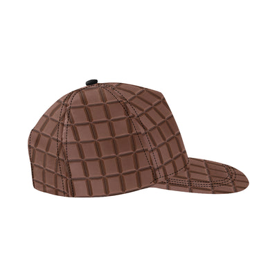 Chocolate Pattern Print Design 03 Snapback Hat