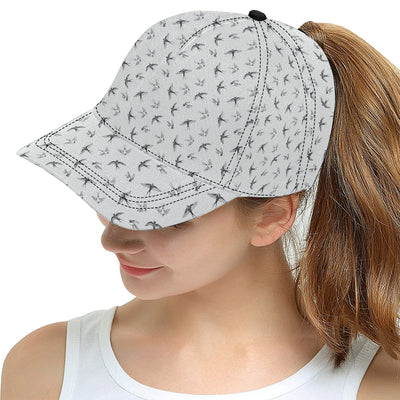 Swallow Bird Pattern Print Design 04 Snapback Hat