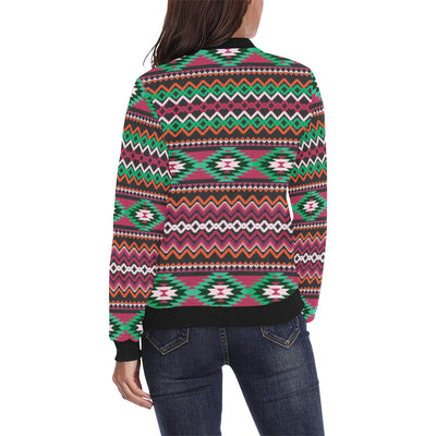 Mexican Pattern Print Design 01 Women Bomber Jacket