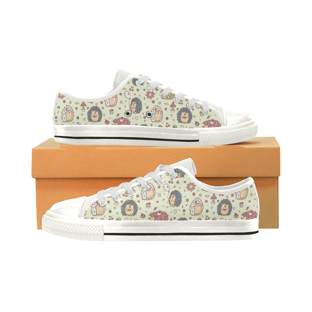 Hedgehog Cute Pattern Print Design 01 Low Top Shoes