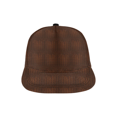 Chocolate Pattern Print Design 01 Snapback Hat