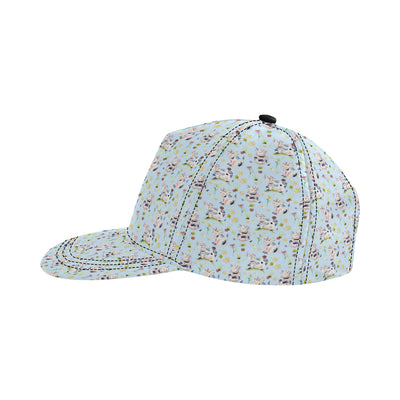 Cow Happy Pattern Print Design 05 Snapback Hat