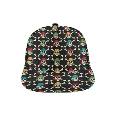 Pirate Pattern Print Design A01 Snapback Hat
