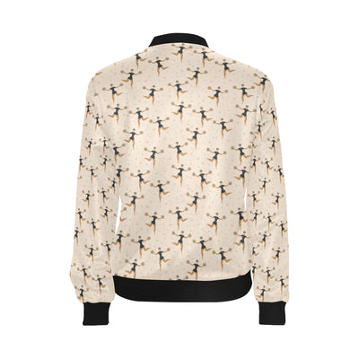 Cheerleader Pattern Print Design 03 Women Bomber Jacket