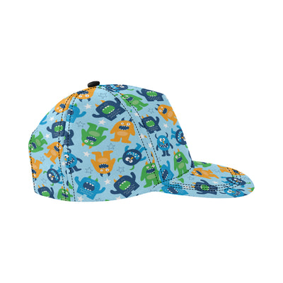 Monster Cartoon Pattern Print Design 04 Snapback Hat