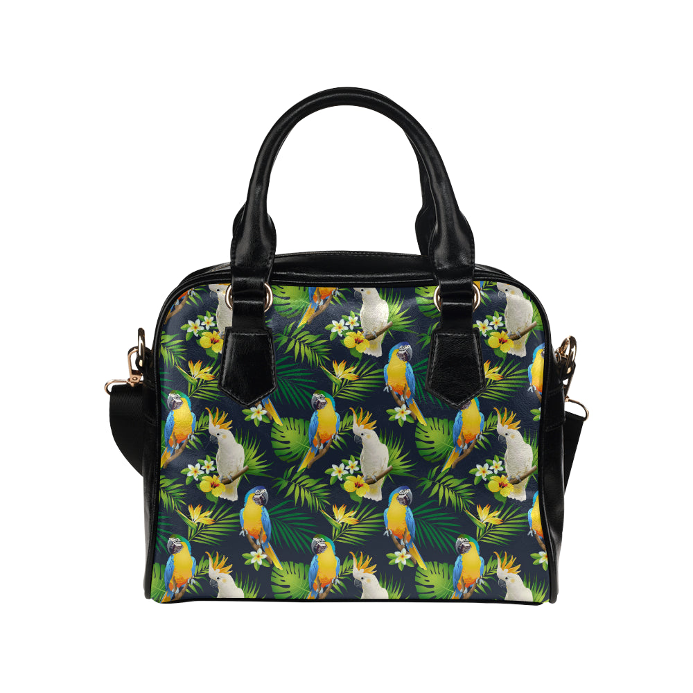 Parrot Pattern Print Design A03 Shoulder Handbag