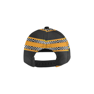Checkered Pattern Print Design 01 Snapback Hat