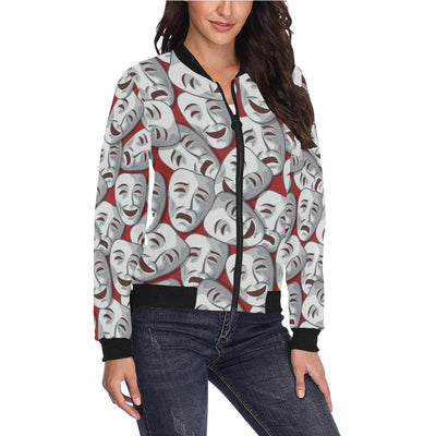 Acting Symbol Pattern Print Design 01 Women Bomber Jacket