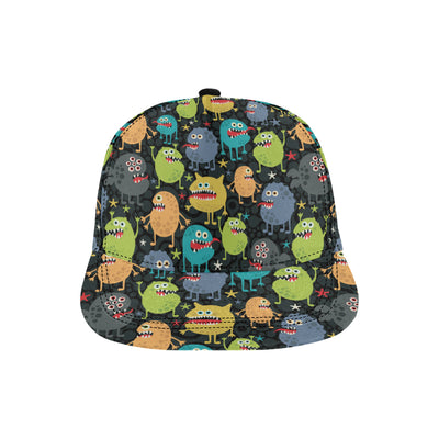 Monster Pattern Print Design 01 Snapback Hat