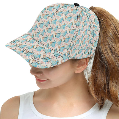Bluebird Pattern Print Design 03 Snapback Hat