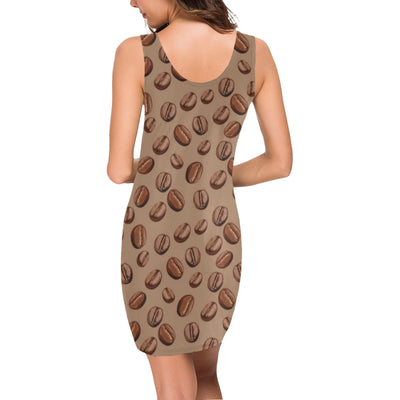 Coffee Pattern Print Design 07 Mini Dress