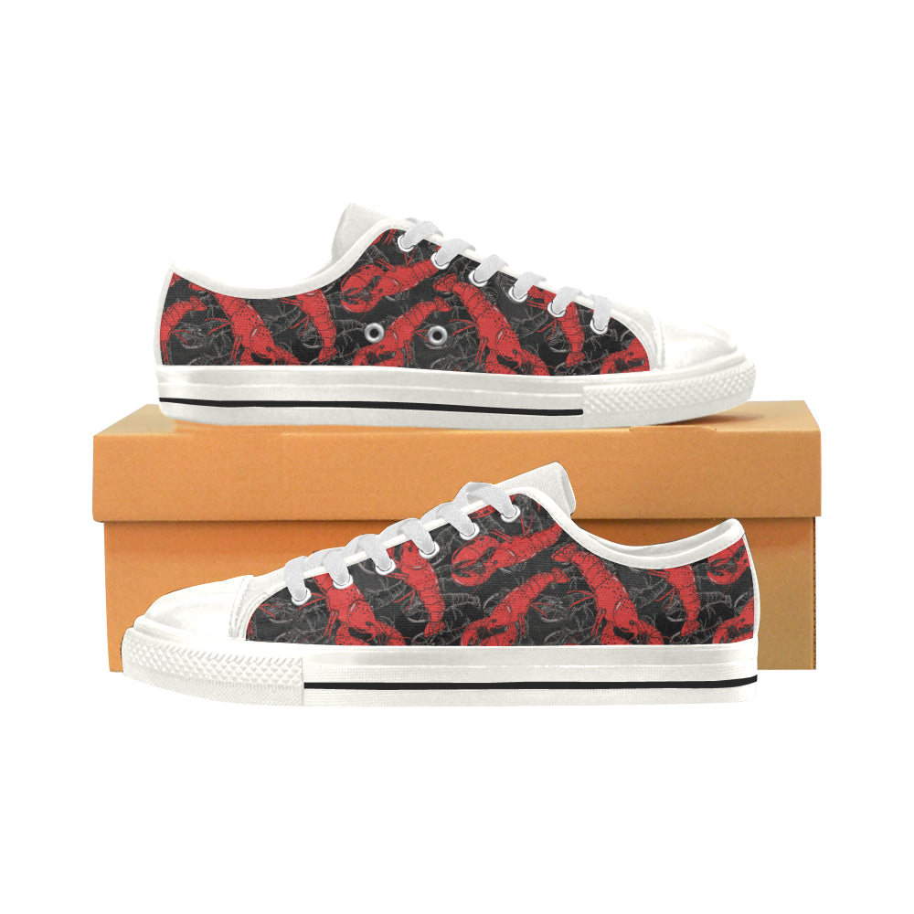 Lobster Pattern Print Design 04 Low Top Shoes