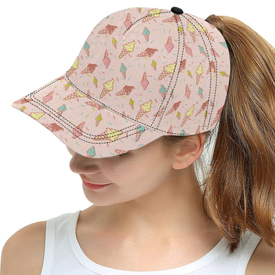 Ice Cream Pattern Print Design 02 Snapback Hat