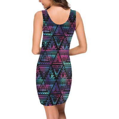Tribal aztec Dark Multicolor Mini Dress